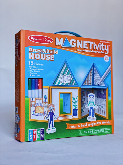 Draw and Build House Magnetivity
