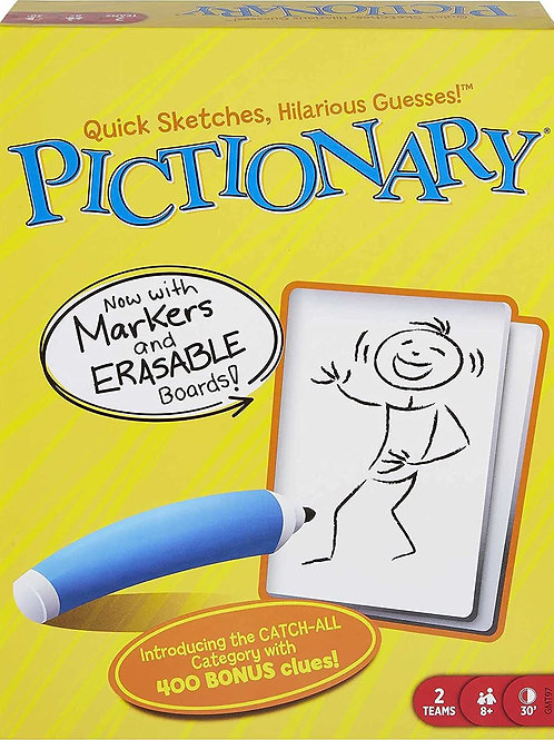 Pictionary Quick Drawing Board & Guessing Game for Family, Kids, Teens & Adults,