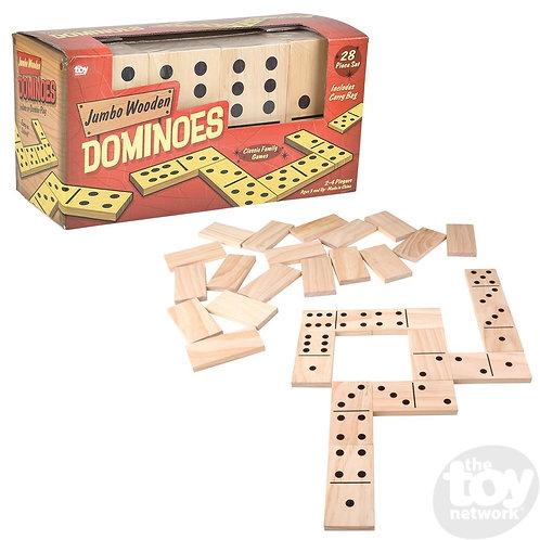 """6"""" Jumbo Wooden Dominoes Set"""