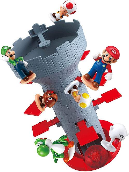 Epoch Games Super Mario Blow Up! Shaky Tower Balancing Game, Tabletop Skill and