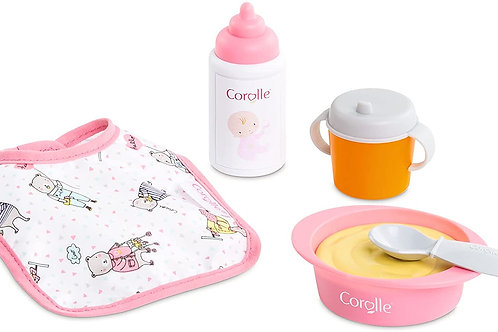 """Corolle Mon Premier Poupon Mealtime Set - Feeding Accessories for 12"""" Baby Dolls"""