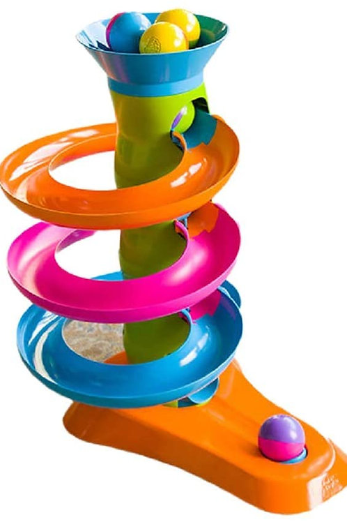 Fat Brain Toys RollAgain Tower Baby Toys & Gifts for Ages 1 to 2