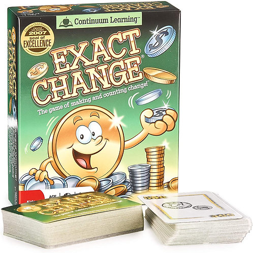 Exact Change Card Game - Educational Money Counting Game for Kids
