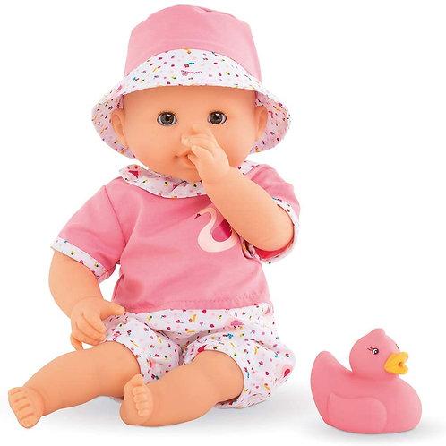 "Corolle - Bebe Bath Calypso - Mon Premier Poupon 12"" Baby Doll and Rubber Duck T"