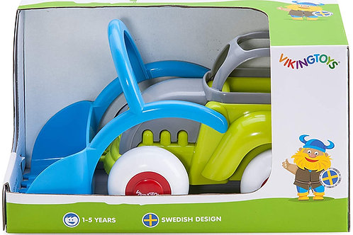 """Viking Toys - Midi Tractor Toy - 9"""" Vehicle with Working Scoop, for Kids Ages 1"""