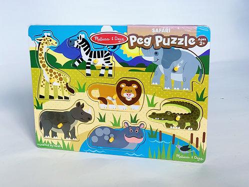 Safari Wooden Peg Puzzle