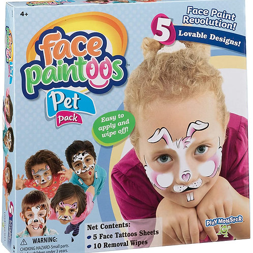 PlayMonster Face Paintoos - Pet Pack Brown/a