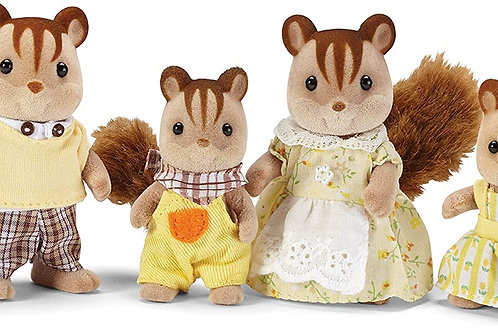 Calico Critters, Hazelnut Chipmunk Family, Dolls, Dollhouse Figures, Collectible