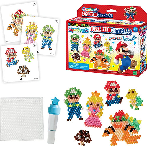 Aquabeads Super Mario Character Set, Kids Crafts and Activities, Complete Bead A