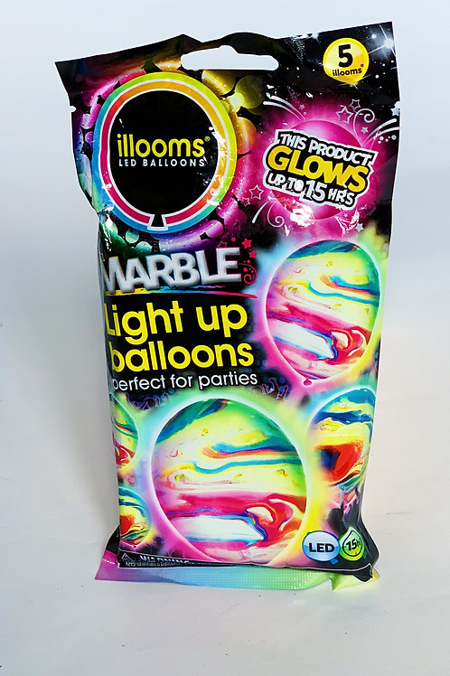 Light Up LED Marble Balloons