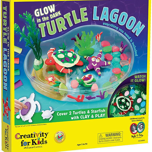 Creativity for Kids Create with Clay Turtle Lagoon – Marine Biology Crafts for