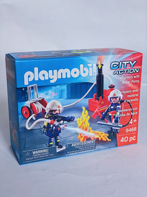 Firefighters with Water Pump Playmobil Action