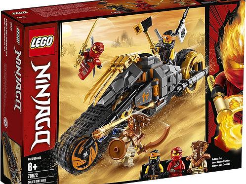 LEGO NINJAGO Cole's Dirt Bike 70672 Building Kit (212 Pieces)