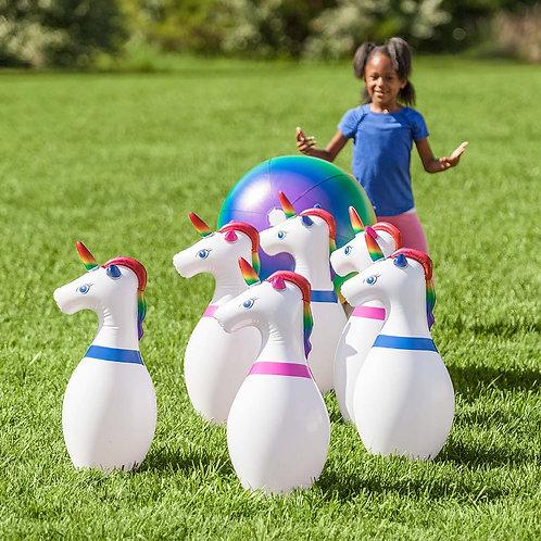 Giant Inflatable Unicorn Bowling