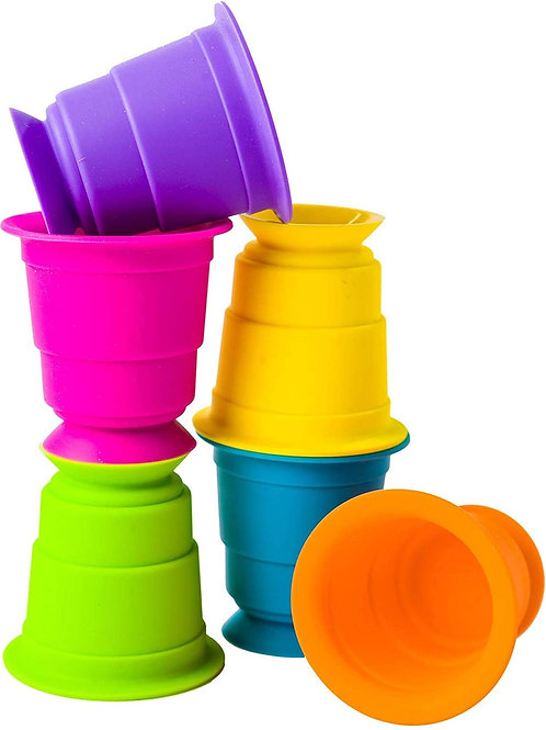 Fat Brain Toys FA183-1 Suction Kupz Baby Toys & Gifts for Ages 1 To 2, Multicolo