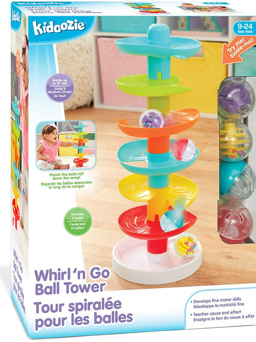 Kidoozie Whirl 'n Go Ball Tower - Interactive Developmental Toy for Toddlers