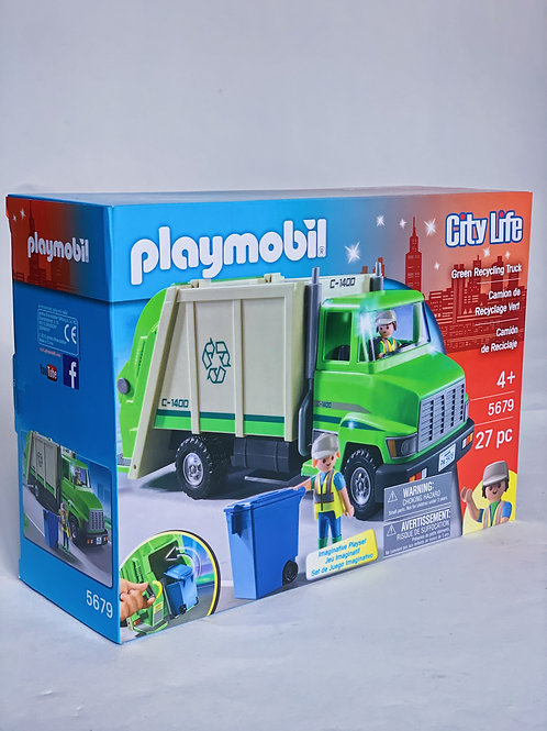 Green Recycling Truck Playmobil City Life