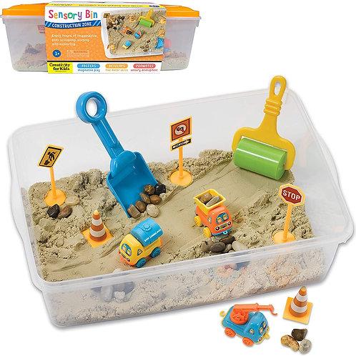 Creativity for Kids Sensory Bin: Construction Zone Playset - Sandbox Truck Toys