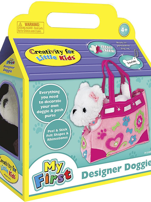 Creativity for Kids Designer Doggie - Decorate and Play, Plush Dog Toy and Carr
