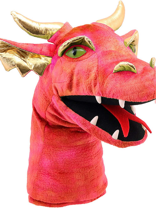 The Puppet Company - Large Dragon Heads - Dragon (Red) Hand Puppet