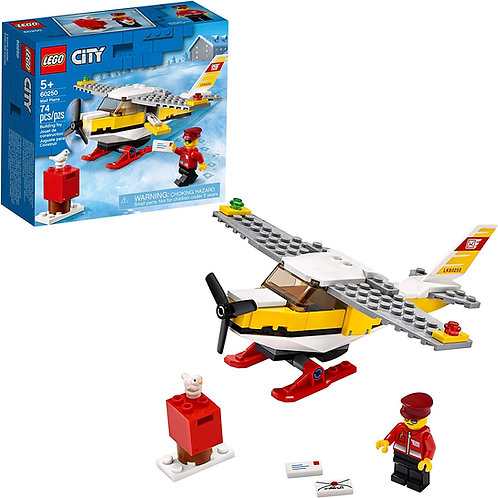 LEGO City Mail Plane 60250 Pretend Play Toy, Fun Building Set for Kids