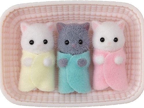 Calico Critters, Persian Cat Triplets, Dolls, Dollhouse Figures, Collectible Toy