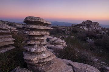Karst limestone formation - El Torcal de Antequera