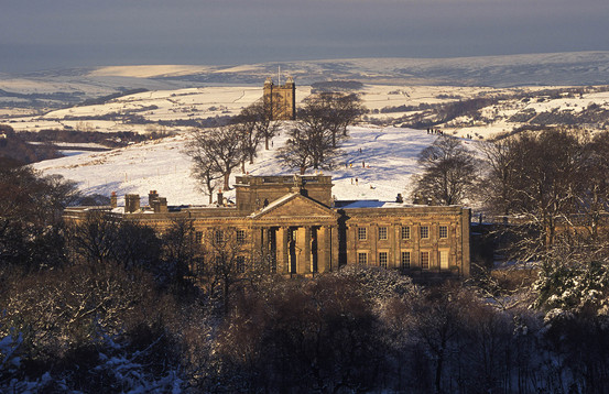 Lyme Hall & Cage in winter