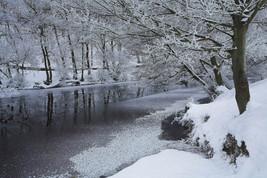 Sub-zero temperatures freeze the River Derwent