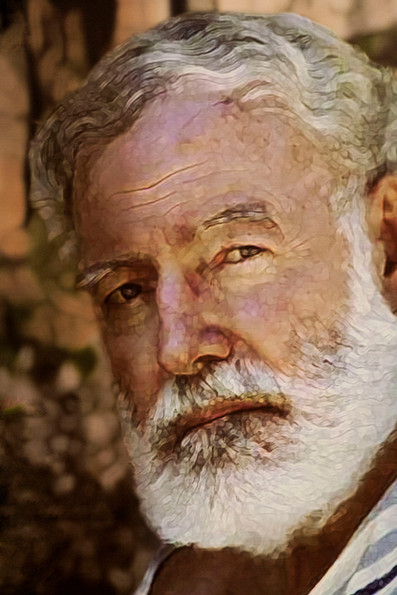 Painting of Ernest Hemingway