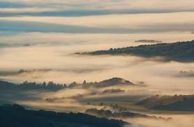 Mist shrouded Valle del Genal