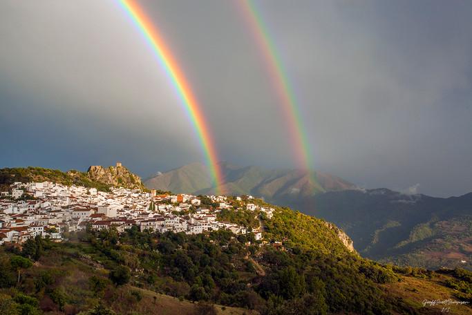 Double rainbow over Gaucin