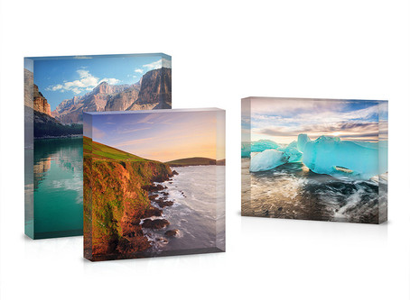 New for 2019 'The Acrylic Block' An ideal photo gift to treasure