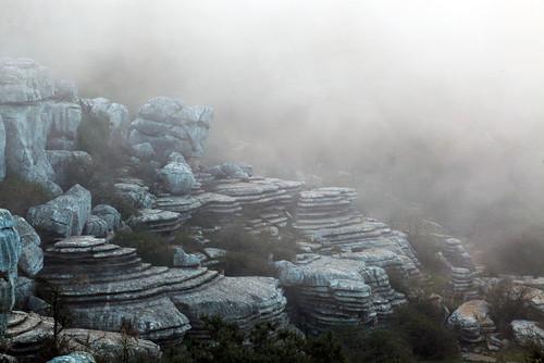 Karst limestone formations - El Torcal alto