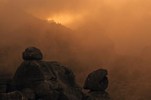 Limestone karst formations