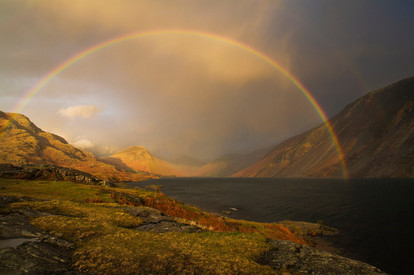 Rainbows over Wastwater