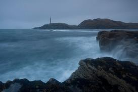 Ardnamurchan lighthouse during a winter storm
