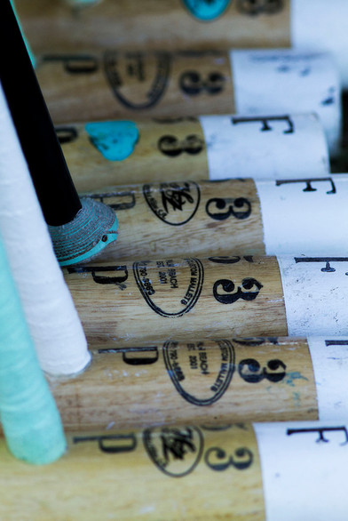 Polo mallets belonging Facundo Pieres of Argentina