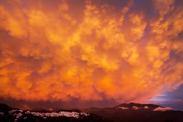 Gaucín bubble cloud storm, Andalucía, Spain.