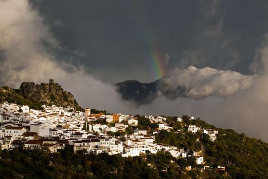 Gaucín rainbow and levante storm