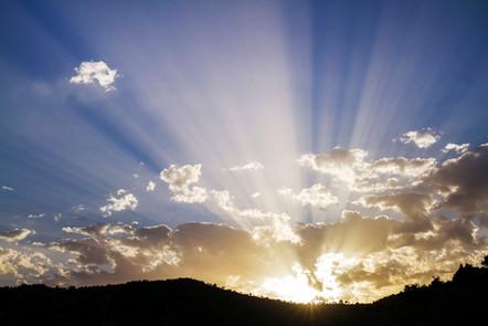 Crepuscular rays over Grazalema