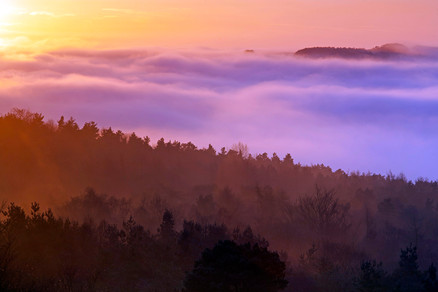 Late afternoon cloud inversion