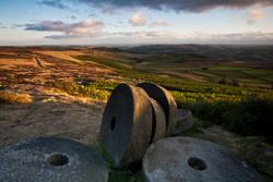 Abandoned millstones below Stanage Edge