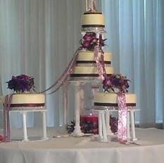 Purple and White Tower cake