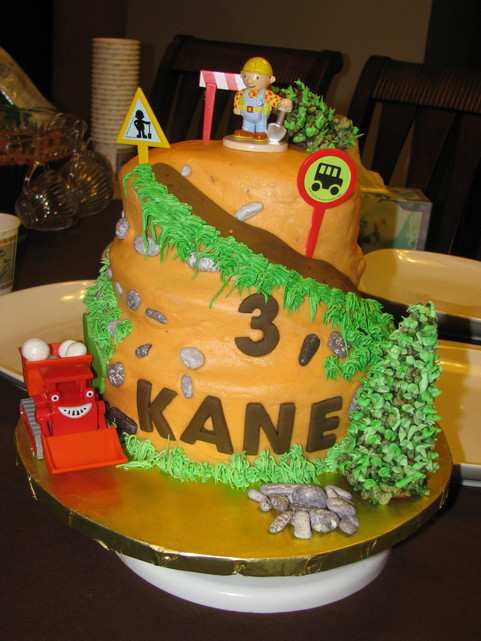 3 Year Old Bob the Builder Cake