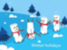 winter_holidays_background_cute_snowman_