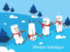 winter_holidays_background_cute_snowman_