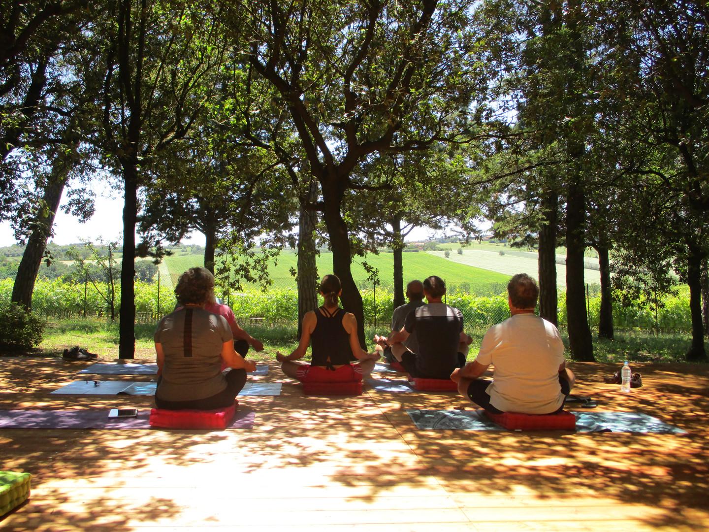 Outdoor yoga space