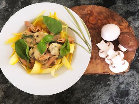 HEALTHY Pasta mit veganer Rahmsoße