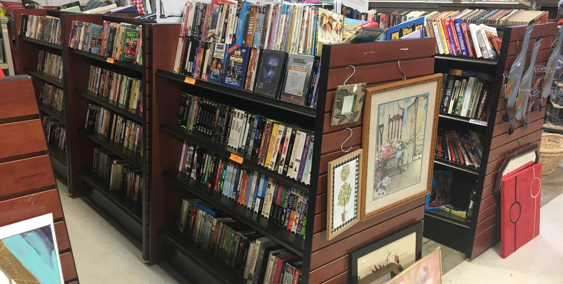 Books, VHS, and DVDs